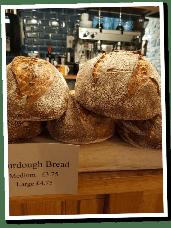 fresh bread at Bridge House Bampton
